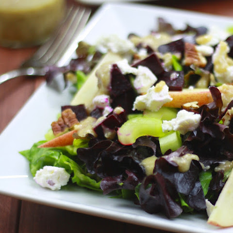 Roasted Beet, Apple, and Goat Cheese Salad with Pecan Vinaigrette