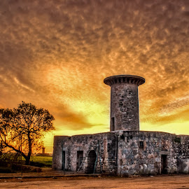 Old Mill by Michele Kerstholt - Buildings & Architecture Other Exteriors ( mill, sunset, landscape photography, mallorca, spain )