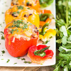 Chicken Relleno Stuffed Bell Peppers