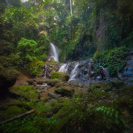 Pengibul Waterfall by Jimmy Kohar - Nature Up Close Natural Waterdrops