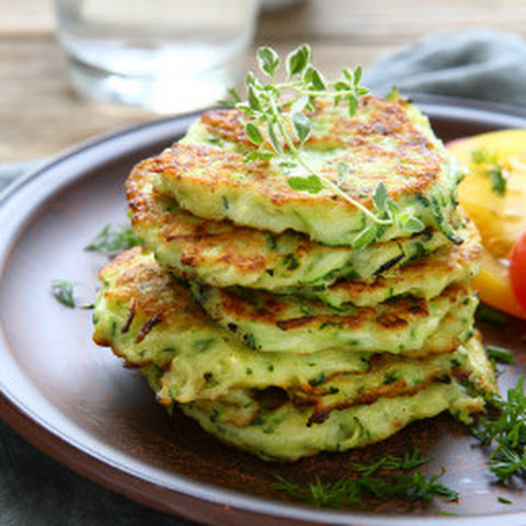 Summer Squash And Chive Pancakes Recipe — Dishmaps