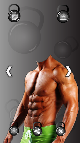 android Bodybuilder Photo Montage Screenshot 1