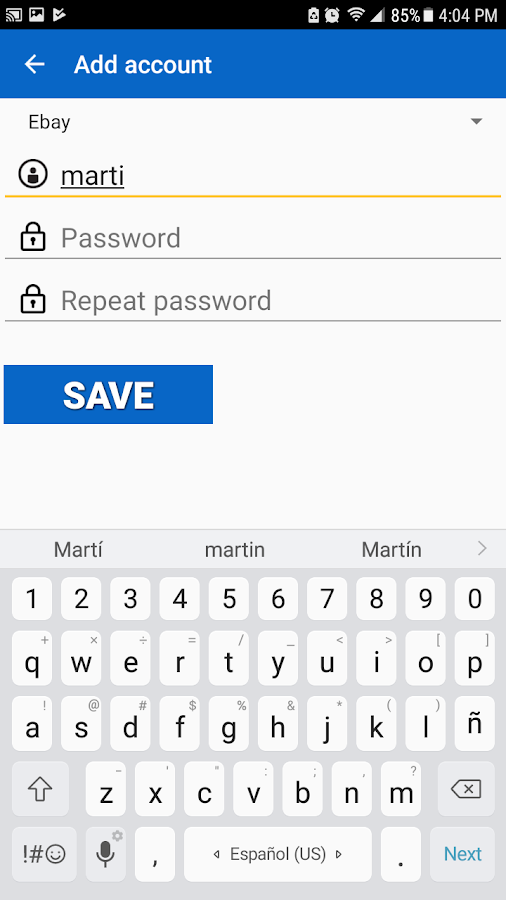 Password Saver Screenshot 3