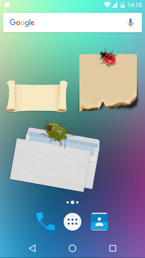Sticky Notes Theme Outdoors Screenshot