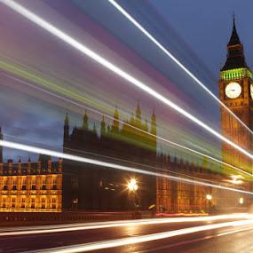 Big Ben by night by Habashy Photography - Travel Locations Landmarks ( parliament, london, big ben, night, lights )