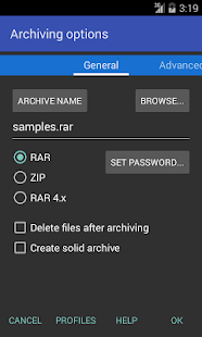 RAR Screenshot