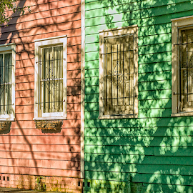 pretty painted homes by Lennie Locken - Buildings & Architecture Homes