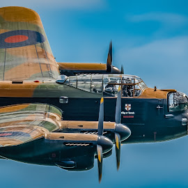 Lancaster, City of Lincoln. by Anthony P Morris - Transportation Airplanes ( anthony morris, bomber, duxford, memorialflight, lancaster, cityoflincoln, eastbourne )