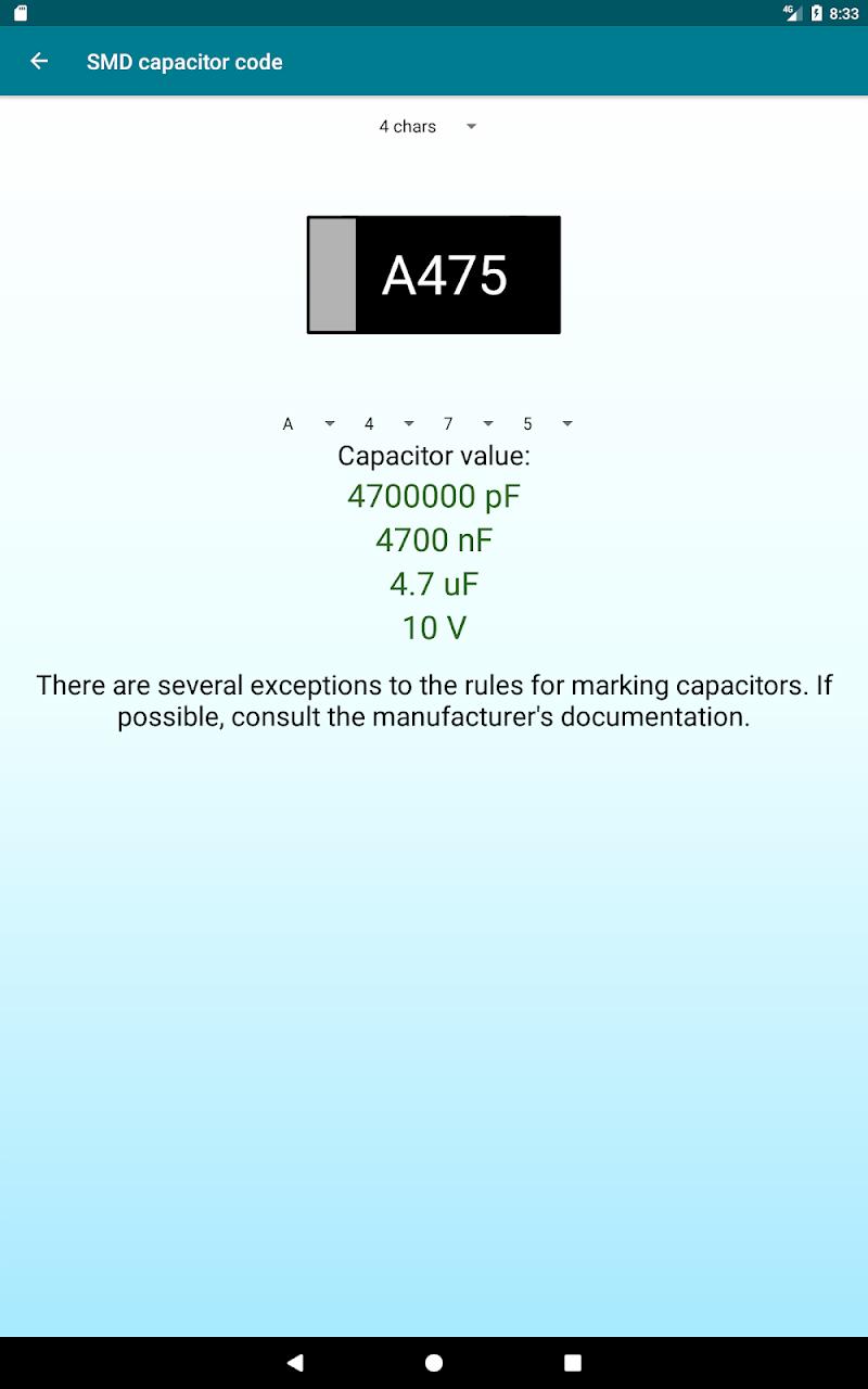 Radio components calculator Screenshot 13