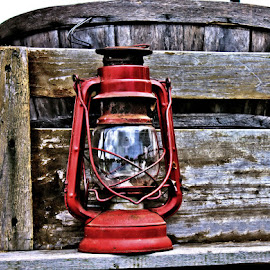 Old by Ginny Bevis - Artistic Objects Other Objects ( apple cart, lantern, old, hdr, wagon,  )