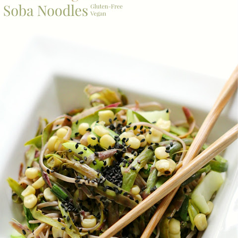 Shaved Purple Asparagus & Asian Vegetable Soba Noodles