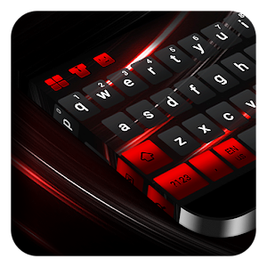 Black Red Keyboard For PC