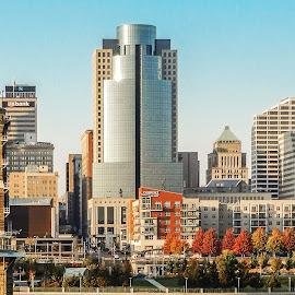 Center City by Richard Michael Lingo - City,  Street & Park  Skylines ( skyline, autumn, buildings, landscape, city )
