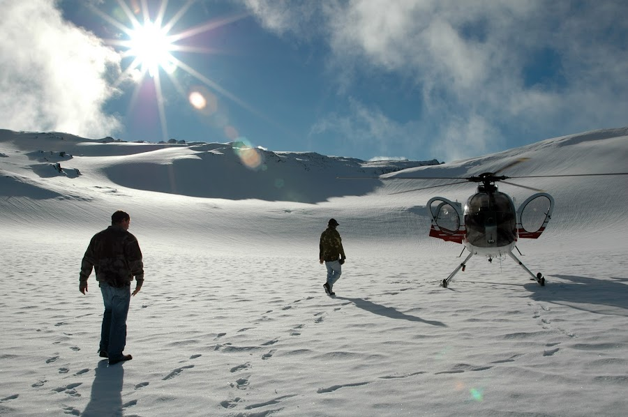 New Zealand by Brett Lambrecht - Landscapes Travel ( clouds, helicopter, sky, snow, people, sun )