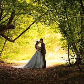 When prince meets princess  by Zhuo Ya - Wedding Bride & Groom ( zhuoya, prewedding, kiwi, wedding, arrowtown, zhuoya photography, new zealand )