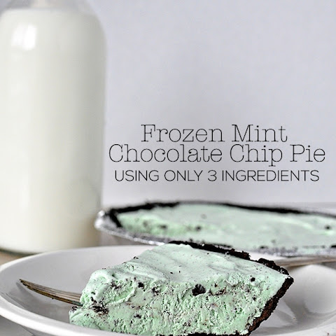 Frozen Mint Chocolate Chip Pie – only 3 ingredients