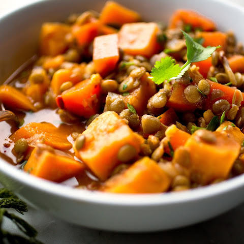 Spicy Lentil and Sweet Potato Stew with With Chipotles