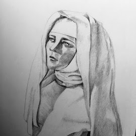 Nun by Selene Andreasen - Drawing All Drawing
