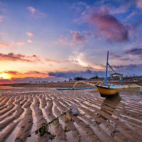 Don't tie me by Satrya Prabawa - Landscapes Beaches ( bali, sunset, ship, indonesia, traditional )