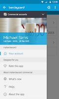 Screenshot of Barclaycard - mybarclaycard