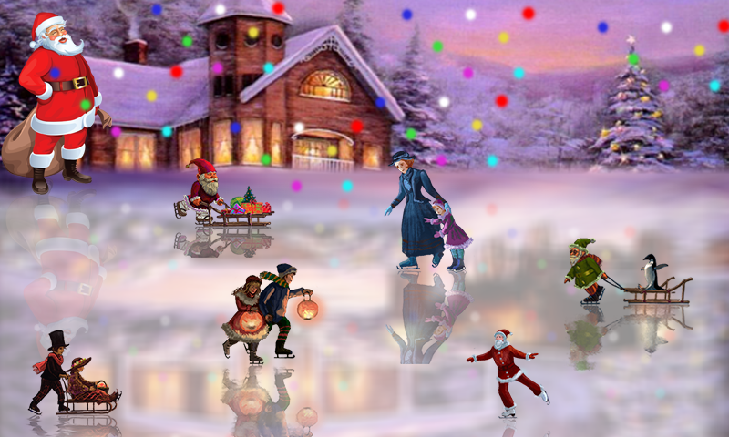 android Christmas Rink Live Wallpaper Screenshot 4
