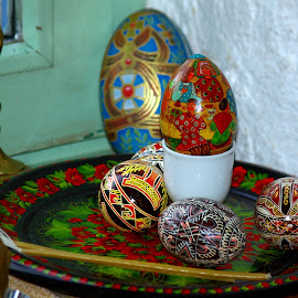 Russians Easter eggs by Ciprian Apetrei - Public Holidays Easter ( eggs, still life, decorations, easter, brittany )