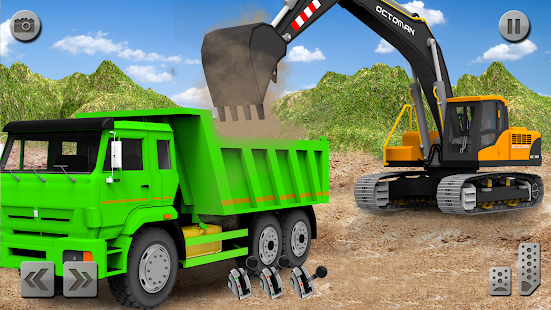 Sand Excavator Truck Driving Rescue Simulator game for pc