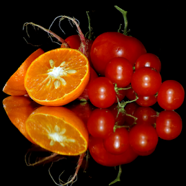 orange with tomatoes by LADOCKi Elvira - Food & Drink Fruits & Vegetables ( vegetables )