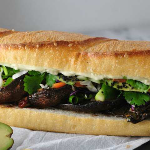 Asian Portobello Sandwich With Wasabi Mayo [Vegan]