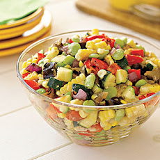 Grilled-Vegetable Succotash Salad