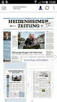 Screenshot of Heidenheimer Zeitung