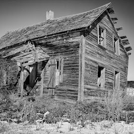 Abandoned Home by Joe Chowaniec - Buildings & Architecture Decaying & Abandoned ( farm, home, black and white, rural, abandoned )