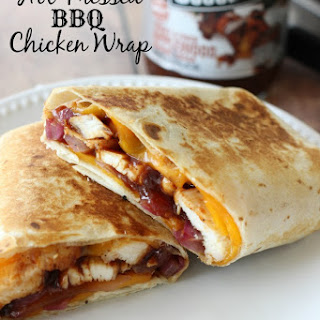 Hot Pressed BBQ Chicken Wrap