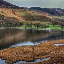 Buttermere View by Ceri Jones - Landscapes Waterscapes ( calm, park, autumn, national, lake, scenic, quiet, district, buttermere )