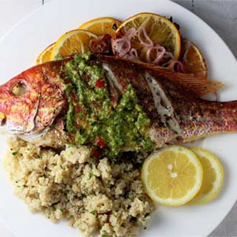 Citrus Infused Whole Roasted Snapper
