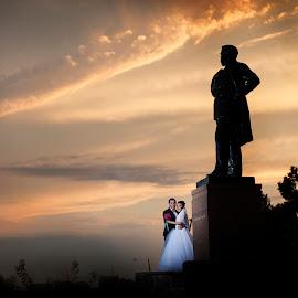 Love! by Doru Iachim - Wedding Bride & Groom ( love, wedding, landscape, bride, groom )