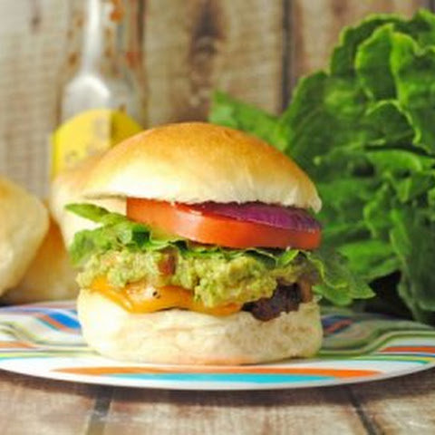 Jerk Burgers with Grilled Pineapple Guacamole