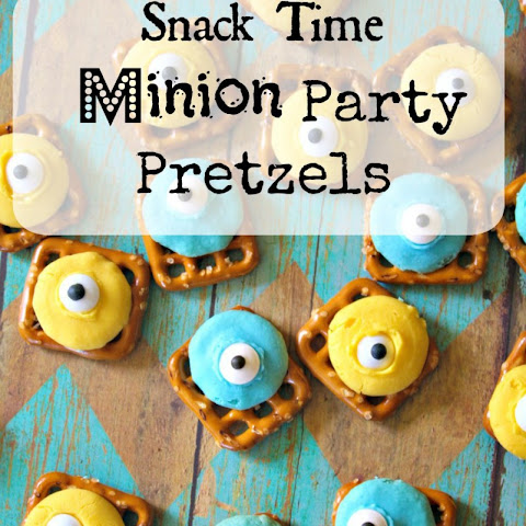 Snack Time - Minion Party Pretzels