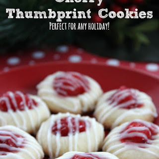 Cherry Thumbprint Cookies