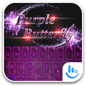 TouchPal PurpleButterfly Theme For PC