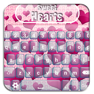 Sweet Hearts Custom Keyboard