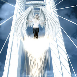 The gate keeper by Cosmin Lita - Digital Art People ( fantasy, angel, heaven, art, digital art )