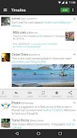 Screenshot of Plume for Twitter