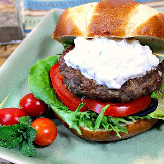 Lamb and Feta Burgers with Tzatziki Sauce