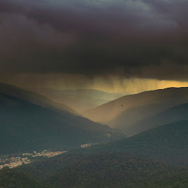 The storm in the mountains by Panait Sorin - Landscapes Mountains & Hills ( landscape, storm, montains )