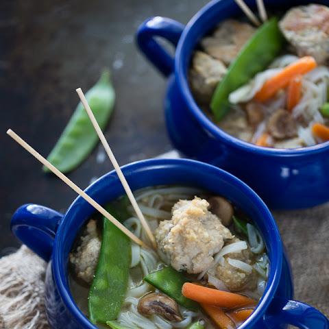 Asian Turkey Meatball Soup