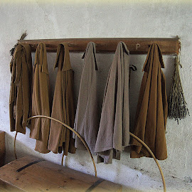 cloaks at the Apprentice House Quarry Bank Mill by Caroline Beaumont - Artistic Objects Clothing & Accessories ( cloaks at the apprentice house quarry bank mill )