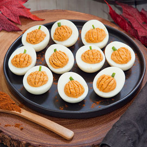 Chipotle Pumpkin Deviled Eggs