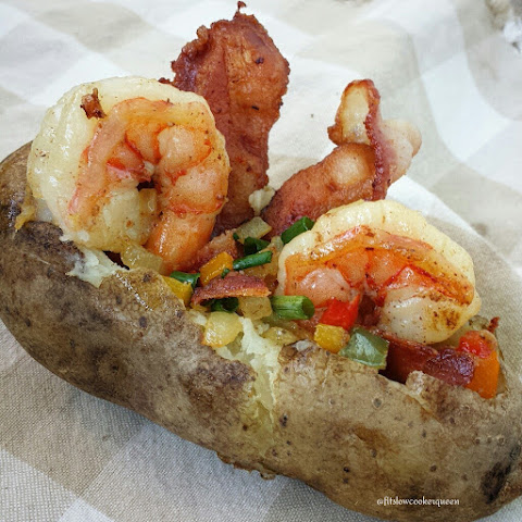 Grilled Bacon-Shrimp Stuffed Potato