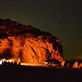 Gjipe Bay at Night by Olsi Belishta - Novices Only Landscapes ( gjiri i gjipese, albania )